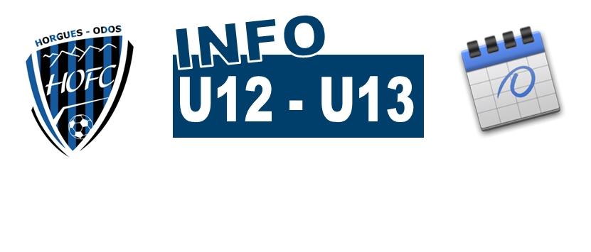 [U12/U13] Le planning de fin de saison