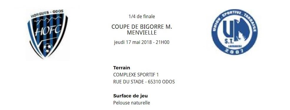 [SEN] 1/4 de Finale de la Coupe de Bigorre