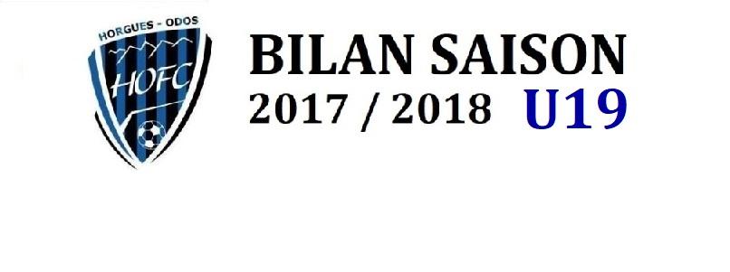 [U19] Bilan Saison pour …