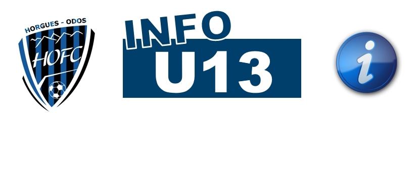 [U13] Info détection du dimanche 21 octobre