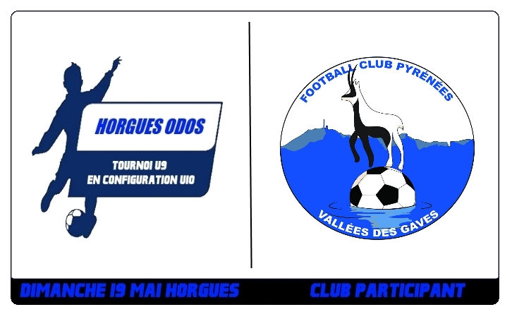 Tournoi U9 – Le FC PYRENEES VALLEE DES GAVES sera présent