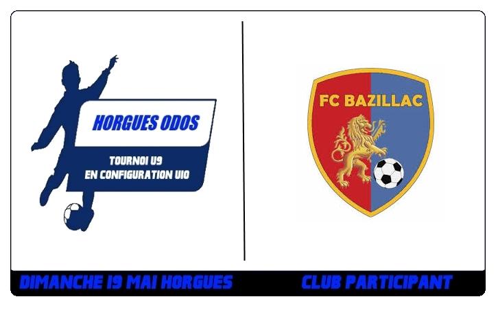 Tournoi U9 – Le FC BAZILLAC sera présent